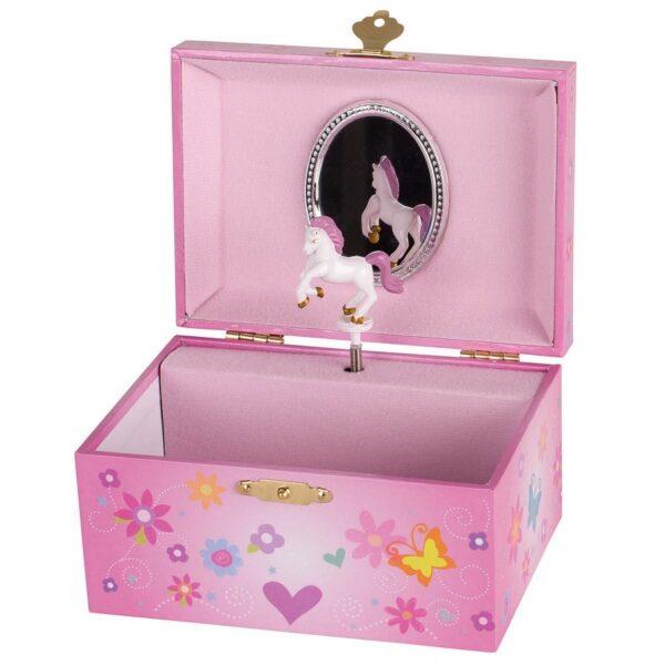 Goki pink smykkeskrin med enhjørning